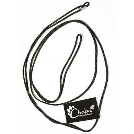 CHABA Smycz ringówka - 2,5mm czarna