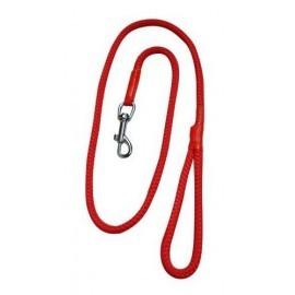 CHABA Smycz linka - 10mm x 120cm czerwona