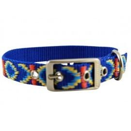 CHABA Obroża Ozdobna Lux 25mm x 55cm niebieska