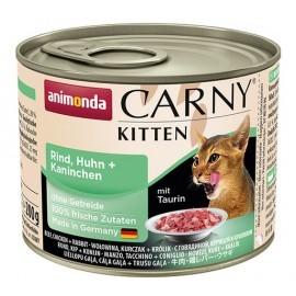 Animonda Carny Kitten Wołowina, Kurczak + Królik puszka 200g