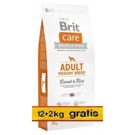 Brit Care New Adult Medium Breed Lamb & Rice 14kg (12+2kg gratis)
