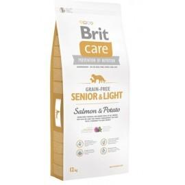 Brit Care Grain Free Senior & Light Salmon & Potato 12kg