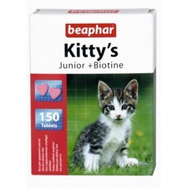 Beaphar Kitty's Junior + Biotine tabletki witaminowe 150szt