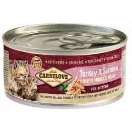 Carnilove Cat Salmon & Turkey for Kittens - łosoś i indyk puszka 100g