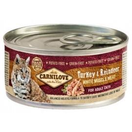 Carnilove Cat Turkey & Reindeer - indyk i renifer puszka 100g