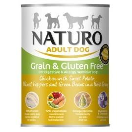 Naturo Adult Kurczak, ziemniaki, papryka i fasolka w sosie puszka 390g