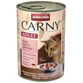 Animonda Carny Adult Indyk, Kurczak + Krewetki puszka 400g
