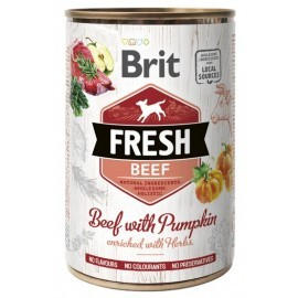 Brit Fresh Dog Beef with Pumpkin puszka 400g