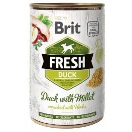Brit Fresh Dog Duck with Millet puszka 400g