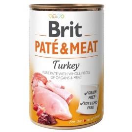 Brit Pate & Meat Dog Turkey puszka 400g