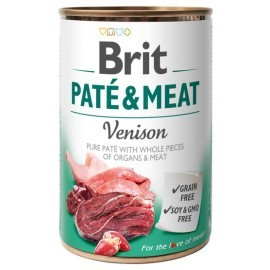 Brit Pate & Meat Dog Venison puszka 400g