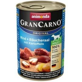 Animonda GranCarno Adult Rind Raucheraal Kartoffeln Wołowina, Węgorz + Ziemniaki puszka 400g