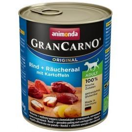 Animonda GranCarno Adult Rind Raucheraal Kartoffeln Wołowina, Węgorz + Ziemniaki puszka 800g