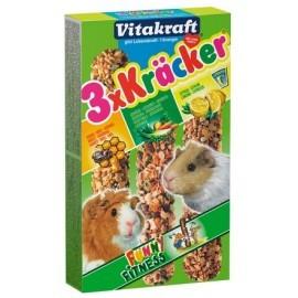 Vitakraft Kracker 3szt Świnka morska Mix - Miód/Warzywa/Cytryna 168g [25226]