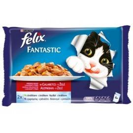 Felix Fantastic Wybór Mięs (królik+jagnięcina) w galaretce saszetka 4x100g