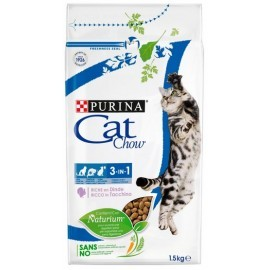 Purina Cat Chow 3in1 z indykiem 1,5kg
