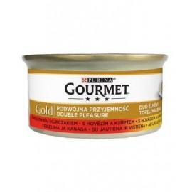 Gourmet Gold Wołowina i kurczak w sosie 85g