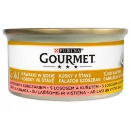 Gourmet Gold Łosoś i kurczak w sosie 85g