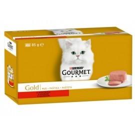 Gourmet Gold Mus z Wołowiną puszka 4x85g