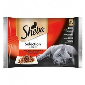 Sheba Selection Mięsne dania w sosie - saszetki 4x85g 3+1 gratis