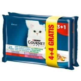 Gourmet Perle Sos Mini Fileciki z warzywami 4+4 gratis saszetki 8x85g