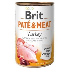 Brit Pate & Meat Dog Turkey puszka 800g