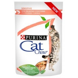 Purina Cat Chow Sensitive Łosoś saszetka 85g