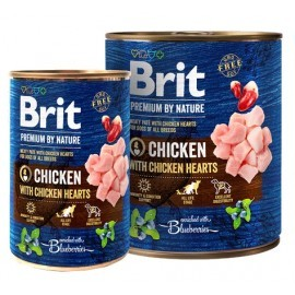 Brit Premium By Nature Chicken & Hearts puszka 400g