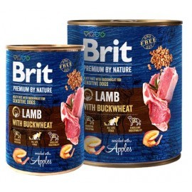 Brit Premium By Nature Lamb & Buckwheat puszka 400g
