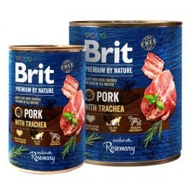 Brit Premium By Nature Pork & Trachea puszka 400g
