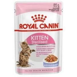 Royal Canin Kitten Sterilised karma mokra w galaretce dla kociąt od 4 do 12 miesiąca życia, sterylizowanych saszetka 85g