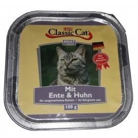 Classic Cat Adult Kaczka i kurczak tacka 100g