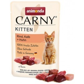 Animonda Carny Kitten Wołowina, Cielęcina + Kurczak saszetka 85g